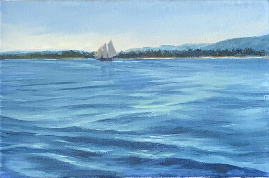 Rosemarie Morelli Art Studio School - How To Start A Maine Ocean Seascape